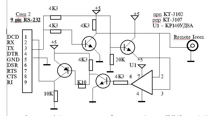 psk31 usb interface schematic diagram